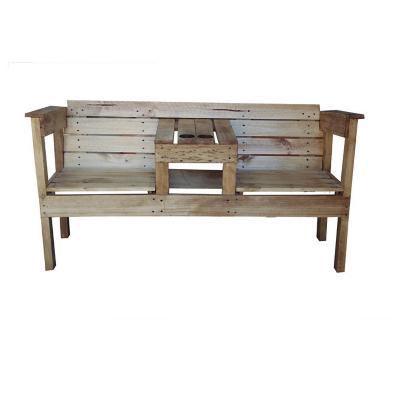 Sillón madera estilo Pallet 162x83x60 cm café