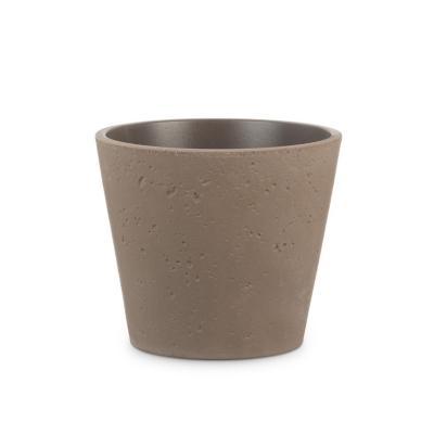 Macetero de cerámica 21x18 cm café oscuro
