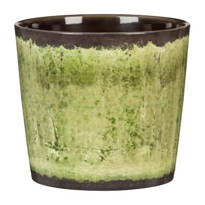 Macetero de cerámica 21x18 cm verde