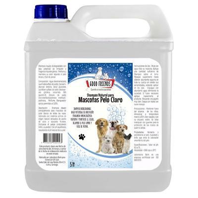 Shampoo natural para perro pelo claro 5 litros