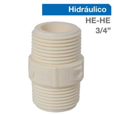"""Niple PVC-P HE/HE 3/4""""  1u"""