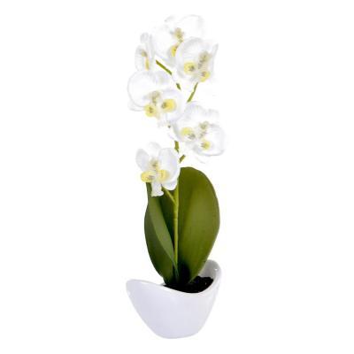 Planta Artificial Orquídea Blanca
