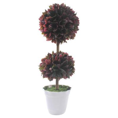 Planta Artificial Moldeada Roja