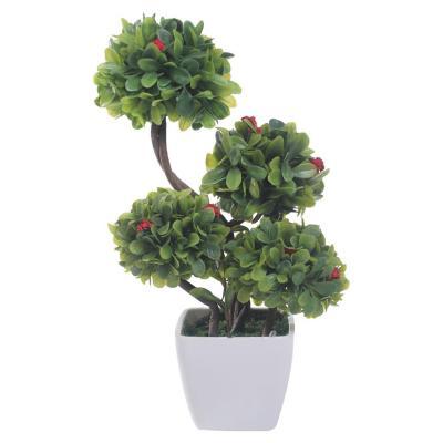 Planta Artificial Moldeada Flor Roja