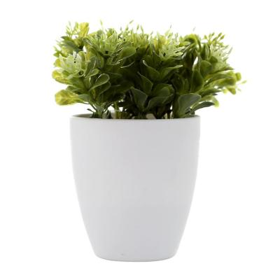 Planta Decorativa Artificial Maceta Blanca