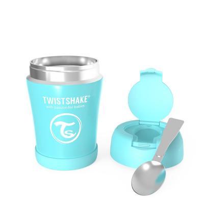 Termo comida bebe 350 ml acero inoxidable azul