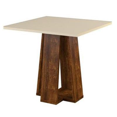 Mesa comedor 90x82 cm miel/blanco