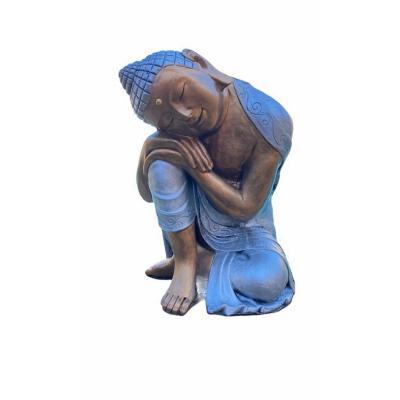 Buda durmiente plateado 48x28x28 cm