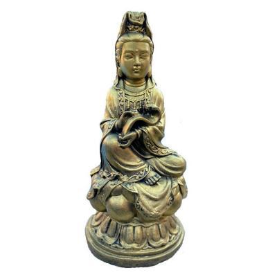 Figura Kuan Yin dorado 55 cm
