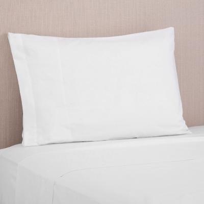 Juego de sábanas 144 hilos blanco 1,5 plazas