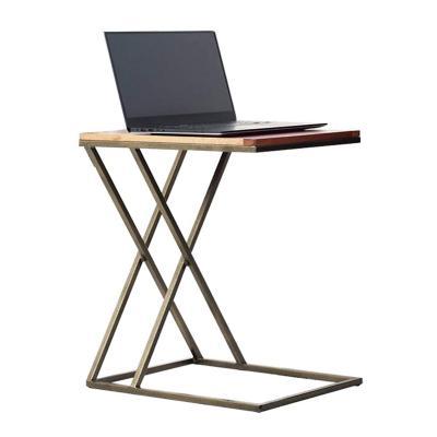 Mesa auxiliar X 65x35x45 cm base madera