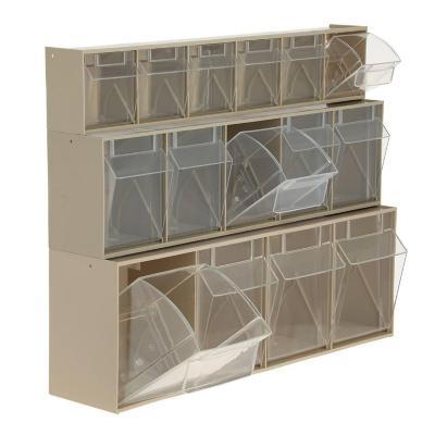 Set 3 organizadores cajas transparente 60x17x43 cm