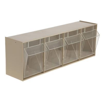 Organizador 4 cajas transparentes 60x17x21 cm
