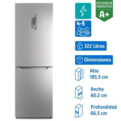 Refrigerador bottom freezer 322 litros