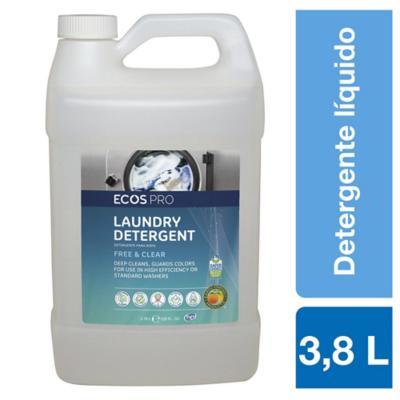 Detergente líquido ecológico free & clear 3,8 litros