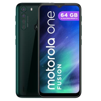 Celular Motorola One Fusion 64GB verde esmeralda