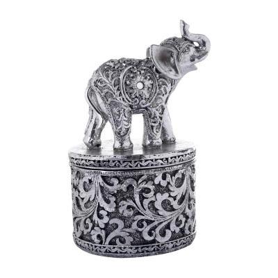 Joyero Decorativo Elefantes Bombay 17 cm