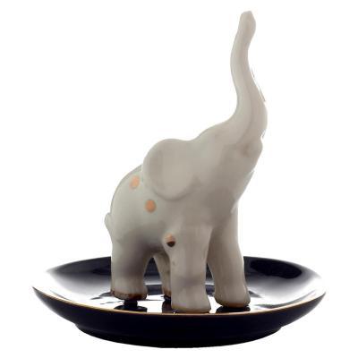 Joyero Decorativo Elefante Plato Negro 11 cm