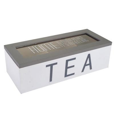 Caja Porta Té 7x10x24 cm blanco