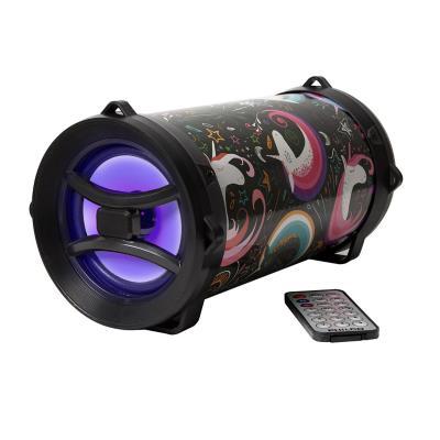 Parlante bazooka Bluetooth/ FM/ AUX/ USB unicornio