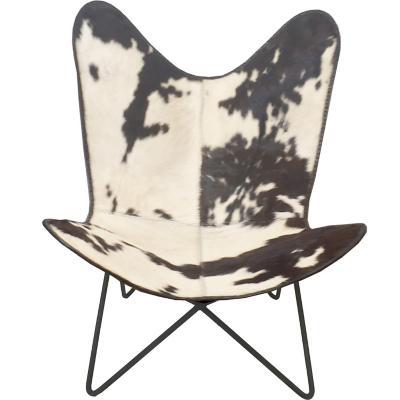Silla mariposa 90x85x94 cm blanco/negro