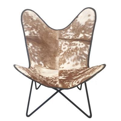 Silla mariposa 90x85x94 cm blanco/café