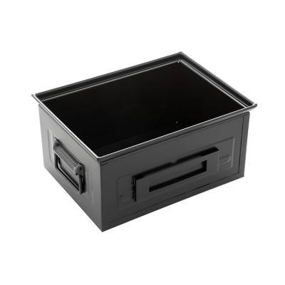 Caja de acero Iron Box 40x30x20 cm negra