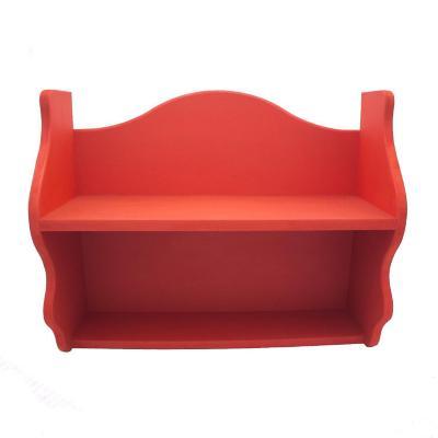Repisa Rapallo 40x50x18 cm mdf rojo