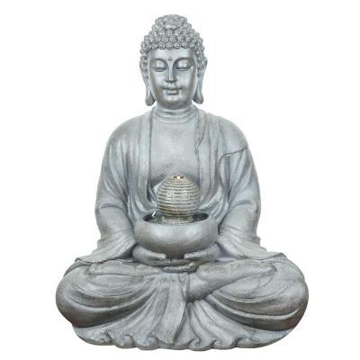 Fuente de agua Buddha resina 82x65x50 cm gris