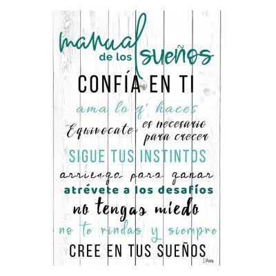 Cuadro de Madera 40x60 cm Manual de los sueños