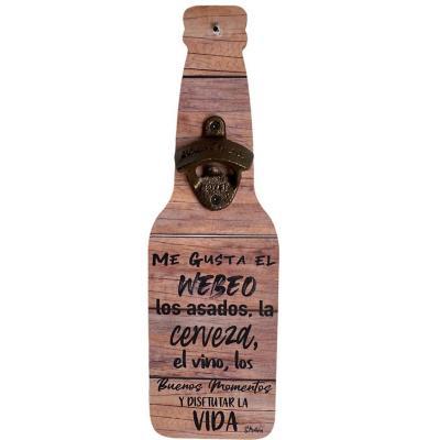 Destapador Botellas 11x36 cm frase Me gusta el web