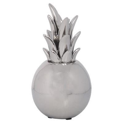 Figura Decorativa Piña Chicago Silver