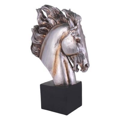Figura Decorativa Caballo Pegasus Pedestal