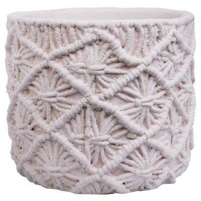 Maceta Decorativa Croche Marfil