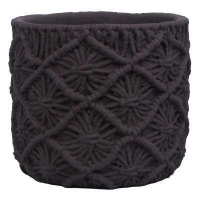 Maceta Decorativa Croche Grafito