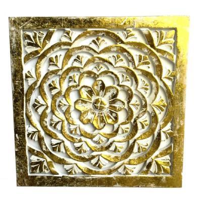 Mandala Pared 41x2,5x41 cm dorado