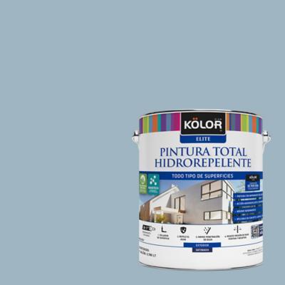 Esmalte al agua total hidrorrepelente satinado azul croasia 1 gl