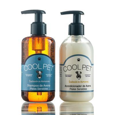 Pack shampoo de avena 250 ml + Acondicionador de avena 250 ml para perros y gatos