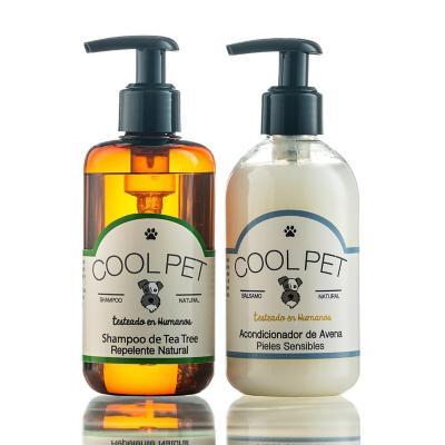 Pack shampoo teatree 250 ml + acondicionador de avena 250 ml para perros y gatos