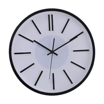 Reloj Mural Decorativo Nevada 35x35 cm Blanco