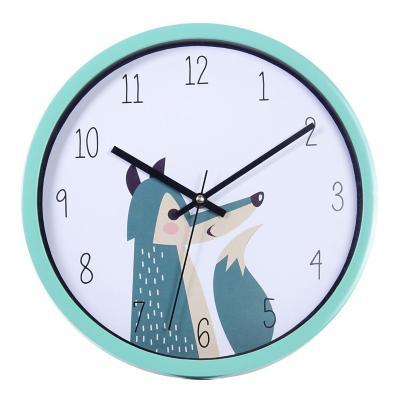 Reloj Mural Decorativo Little Wolf  30x30 cm Turquesa