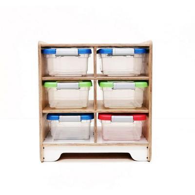 Organizador juguetes con cajas 69x44x63 cm