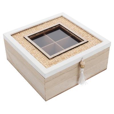 Caja de Té Decorativa Versailles 8x19x18 cm