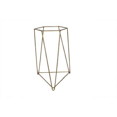 Porta macetero acero 30x30x45 cm dorado