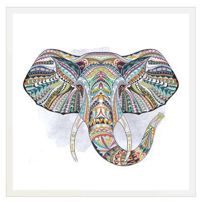 Cuadro Bastidor + marco  elefante mandala 30x30 cm