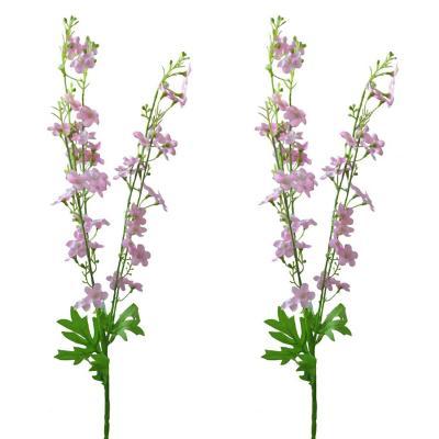 Pack 2 varas flores silvestres rosado 85 cm