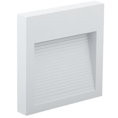 Apliqué led spto slim aluminio blanco 6 W luz cálida IP65