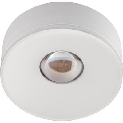 Foco led sobrepuesto aluminio blanco luz cálida 3 W IP20