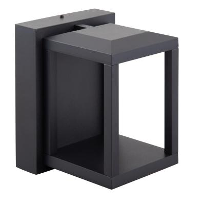 Apliqué led aluminio negro 7 W luz cálida IP65