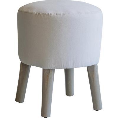 Pouf emma stone wash 45x36x36 cm gris